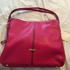 P5 - Anne Klein large bright pink handbag/tote NWT